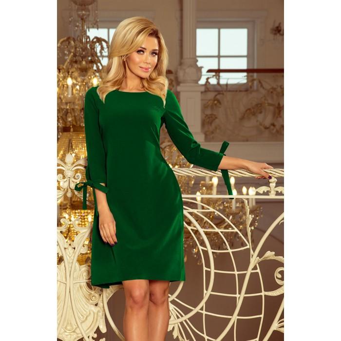 b7c0a8e3f109 Zelené šaty s viazaním vzadu ALICE 195-7