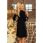 Čierne šaty s viazaním vzadu ALICE 195-8