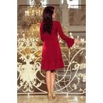 Bordové elegantné šaty s volánmi PARI 226-2