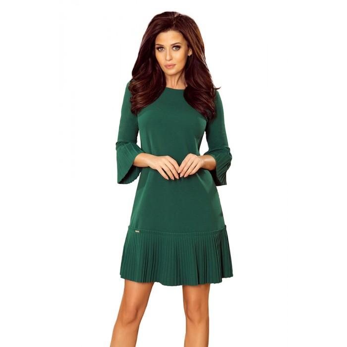fc095ff6d203 Zelené elegantné šaty s plisovaným volánom 228-2