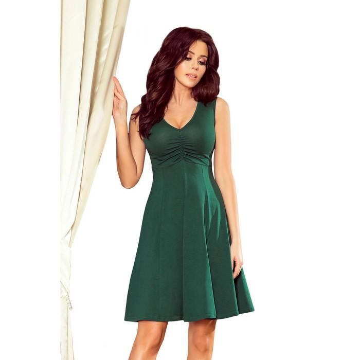 cc1ec9004c49 Zelené letné šaty v Alínii s V výstrihom 238-2