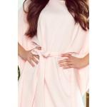 Ružové motýľové šaty s opaskom SOFIA 287-4