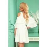 292-4 MARINA šaty s výstřihem - ecru