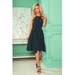 šifónové šaty s viazaním - zelená farba ALIZEE 350-4