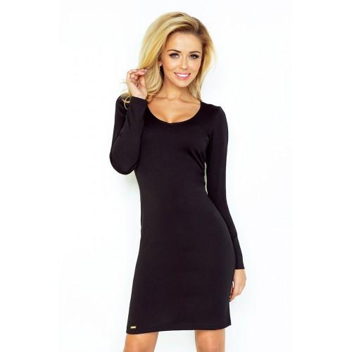 Klasické čierne púzdrové úpletové šaty 92-2 e0e8e2a4159