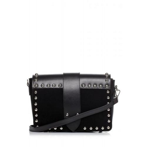 Čierna crossbody kabelka s vybíjaním SB400