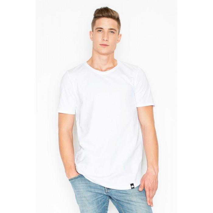 b75c54b78a63 Pánske klasické biele tričko s krátkym rukávom V025