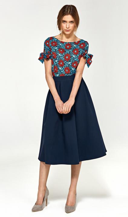 sukňa a lína + blúza kvet